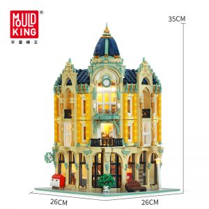 Mould King Moc Street View Creator Series Post Office Corner Building Blocks Bricks For Children Toys 5