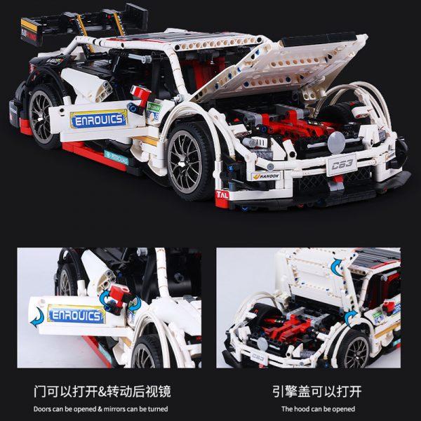 Mould King Moc 13075 Technic Series Amg C63 Sport Super Racing Car Model Building Blocks Bricks 2
