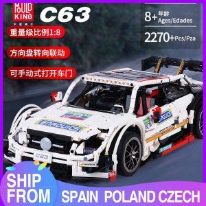 Mould King Moc 13075 Technic Series Amg C63 Sport Super Racing Car Model Building Blocks Bricks