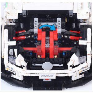 Mould King Moc 13075 Technic Series Amg C63 Sport Super Racing Car Model Building Blocks Bricks 4