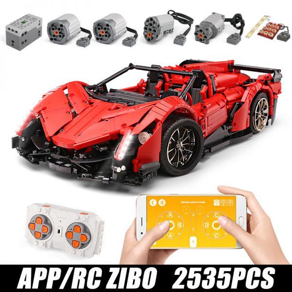 Mould King Moc 20091 Technic Series Veneno Lamborghinis Roadster Model Building Blocks Bricks 13079 Kids Diy 1