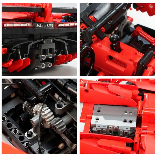 Mould King Moc 20091 Technic Series Veneno Lamborghinis Roadster Model Building Blocks Bricks 13079 Kids Diy 3