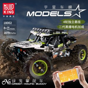 Mould King Moc Technic Buggy Remote Control Terrain Off Road Climbing Truck Model Building Blocks 18002 1