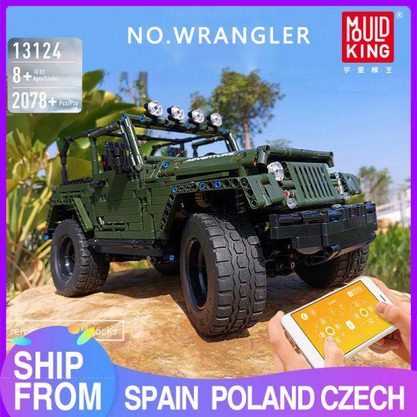 Mould King Technic Series Rc Jeeps Wrangler Adventure Off Road Vehicle Model Building Block Bricks Compatible 1