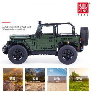 Mould King Technic Series Rc Jeeps Wrangler Adventure Off Road Vehicle Model Building Block Bricks Compatible 4