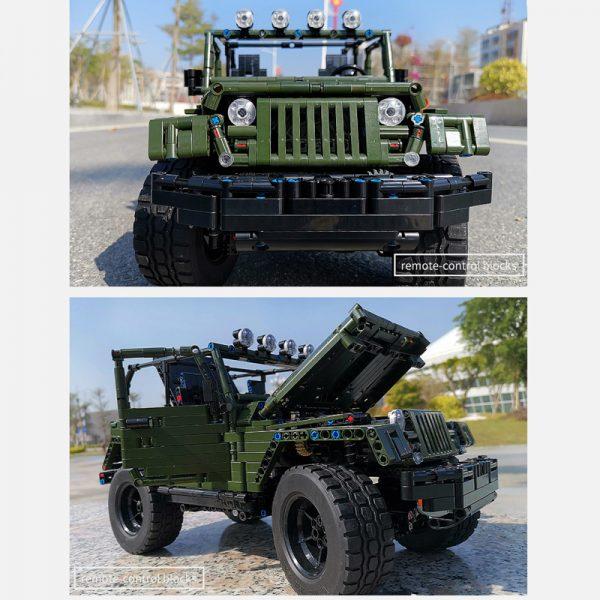 Mould King Technic Series Rc Jeeps Wrangler Adventure Off Road Vehicle Model Building Block Bricks Compatible 5