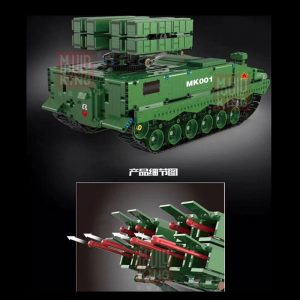 Dhl Mould King 20001 1600pcs Military Tank The Hj 10 Anti Tank Missile Model Technic Building 1