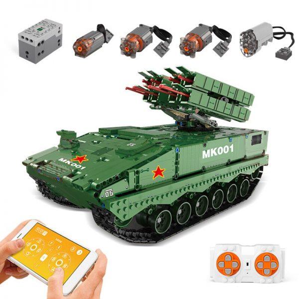 Dhl Mould King 20001 1600pcs Military Tank The Hj 10 Anti Tank Missile Model Technic Building 3