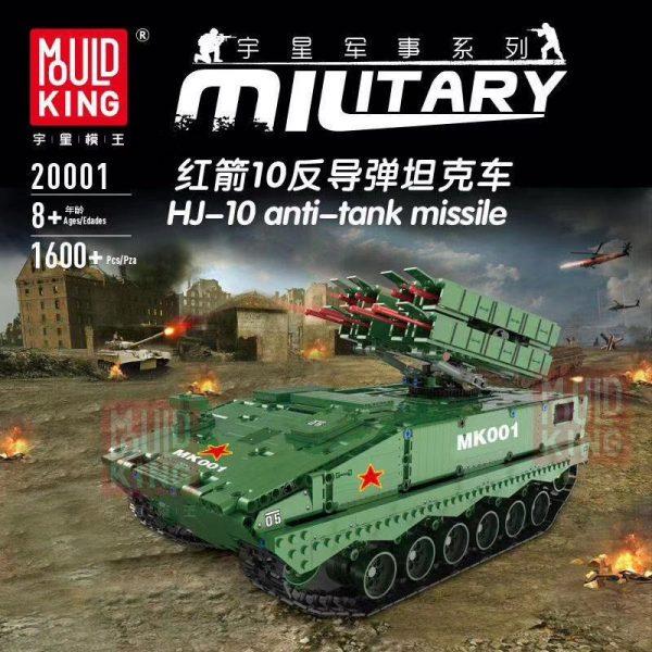 Dhl Mould King 20001 1600pcs Military Tank The Hj 10 Anti Tank Missile Model Technic Building