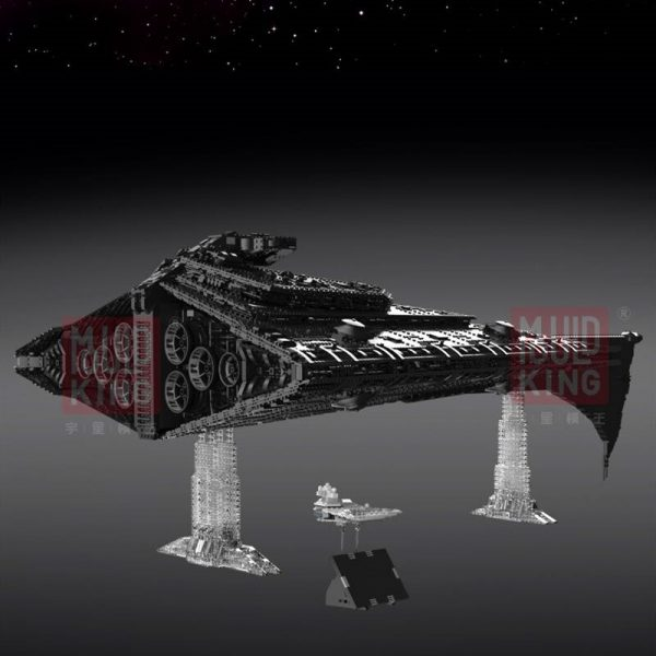 Dhl Mouldking 21004 Star Toys Wars Building Blocks Ucs Dreadnought Star Destroyer Assembly Model Kits Kids 3