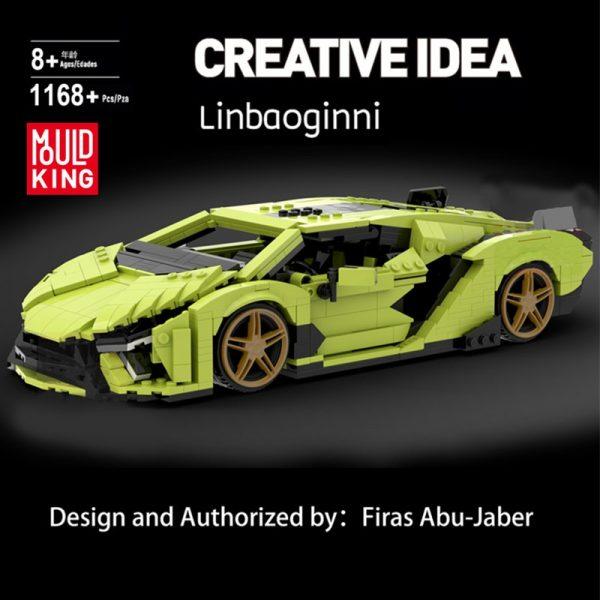 Mould King 10011 Technic Car Model Lamborghinings Sierne Car Sets With 42115 Building Blocks Bricks Kids 1