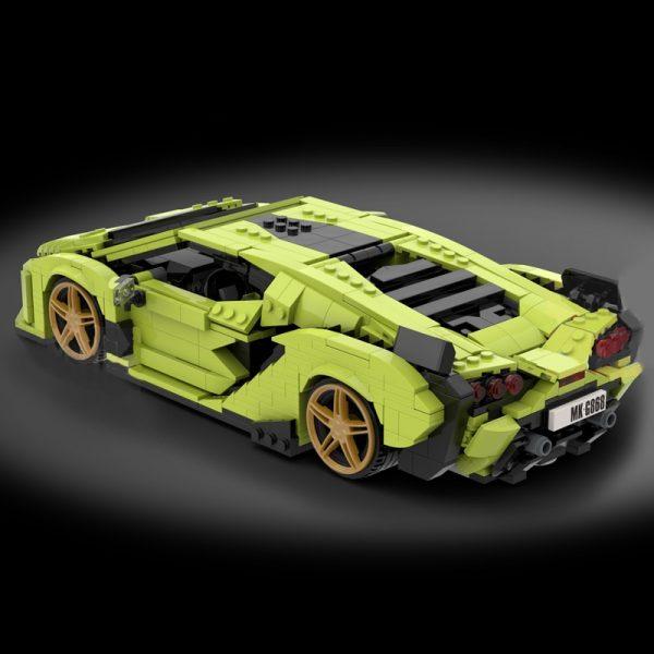 Mould King 10011 Technic Car Model Lamborghinings Sierne Car Sets With 42115 Building Blocks Bricks Kids 3