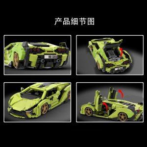 Mould King 10011 Technic Car Model Lamborghinings Sierne Car Sets With 42115 Building Blocks Bricks Kids 4