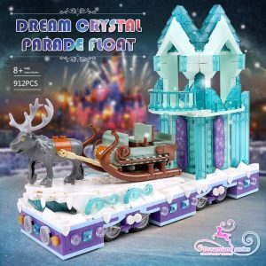 Mould King 11002 Friends Series Snow World Princess Fantasy Winter Village Sleigh Model With 41166 Building 1