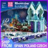 Mould King 11002 Friends Series Snow World Princess Fantasy Winter Village Sleigh Model With 41166 Building