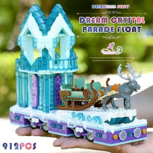 Mould King 11002 Friends Series Snow World Princess Fantasy Winter Village Sleigh Model With 41166 Building 3