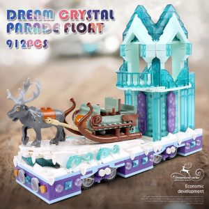 Mould King 11002 Friends Series Snow World Princess Fantasy Winter Village Sleigh Model With 41166 Building 5