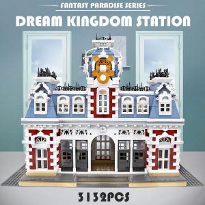 Mould King 11004 Streetview Building Blocks The Station Of The Creamland Model Sets Assembly Bricks Kids 1