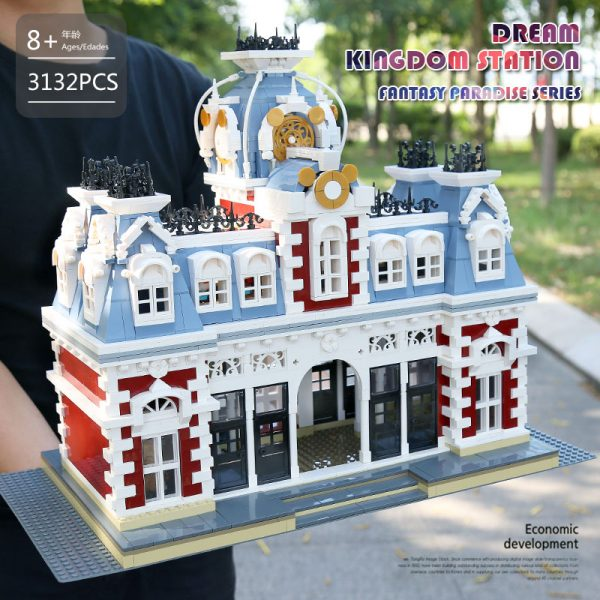 Mould King 11004 Streetview Building Blocks The Station Of The Creamland Model Sets Assembly Bricks Kids 2