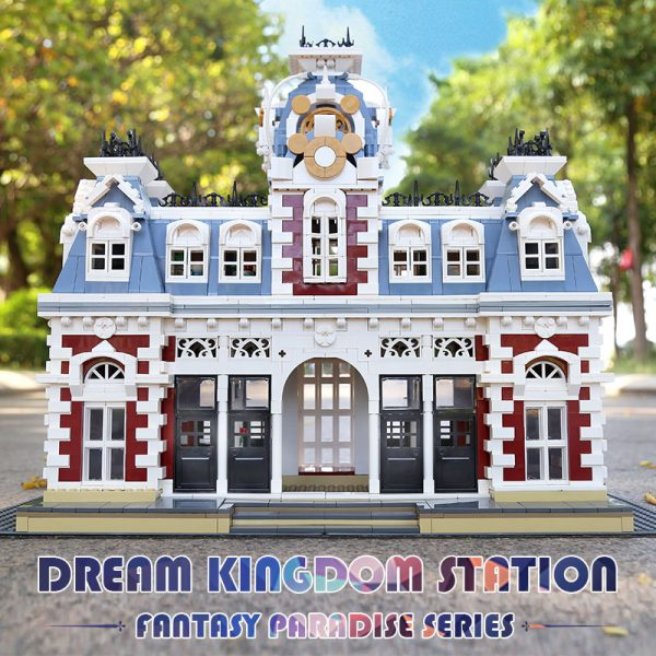 Mould King 11004 Streetview Building Blocks The Station Of The Creamland Model Sets Assembly Bricks Kids 5
