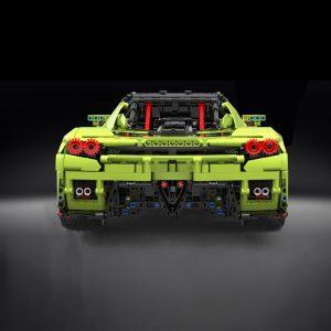 Mould King 13074 Technic Super Racing Car 1 8 Ferrarirs Enzo 42115 Car Model With Moc 4