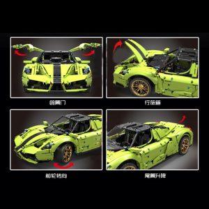 Mould King 13074 Technic Super Racing Car 1 8 Ferrarirs Enzo 42115 Car Model With Moc 5