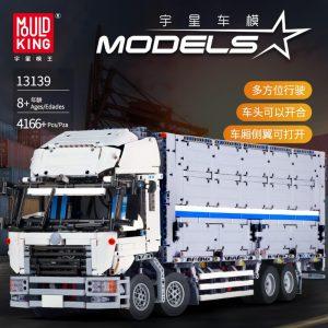 Mould King 13139 Moc 23008 Technic The Arakawa Moc Tow Wing Body Container Truck Tatra Model 1
