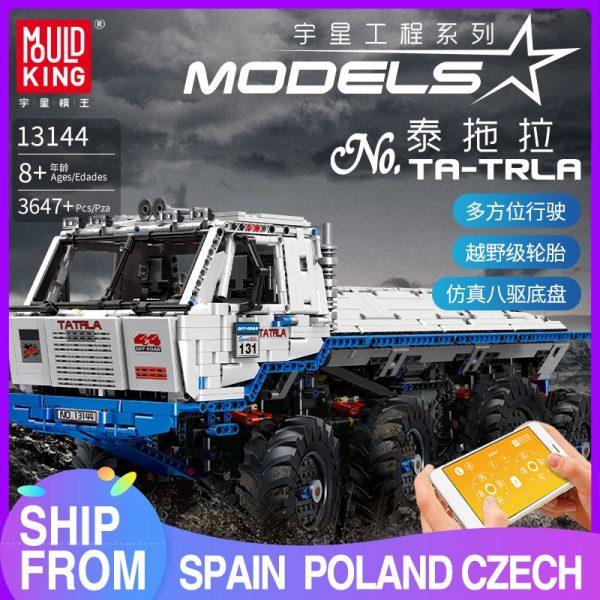 Mould King 13144 Technic Series The Arakawa Moc Tow Off Road Truck Tatra 813 8x8 Model
