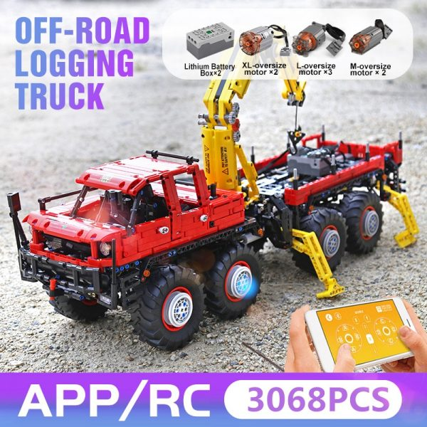 Mould King 13146 Technic Articulated 8 8 Off Road Remote Control Truck Model Set Moc 15805 2