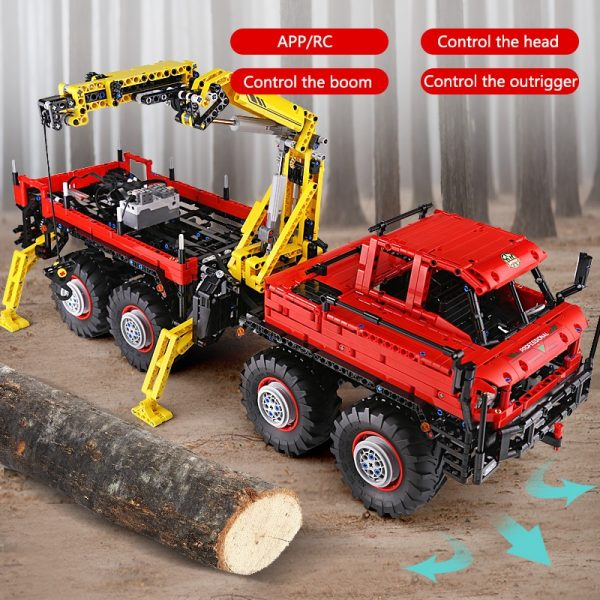 Mould King 13146 Technic Articulated 8 8 Off Road Remote Control Truck Model Set Moc 15805 4