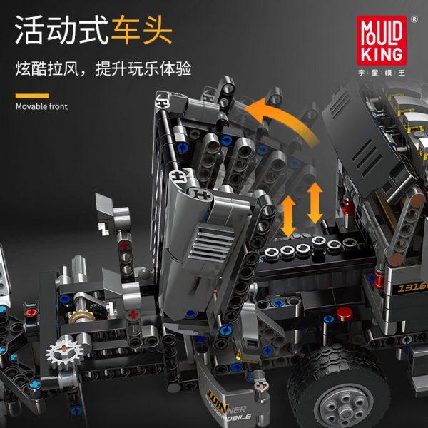 Mould King 13166 Technic Series The Moc 29800 Snowplow Truck Model 42078 Building Blocks Bricks Kids 2