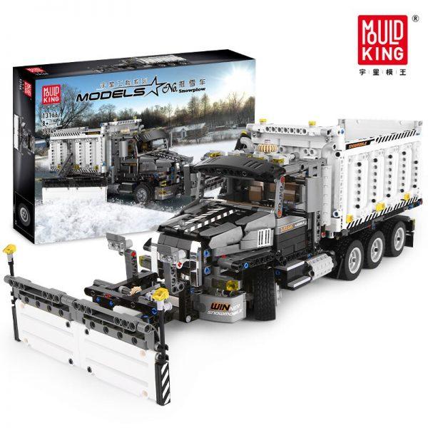 Mould King 13166 Technic Series The Moc 29800 Snowplow Truck Model 42078 Building Blocks Bricks Kids 3