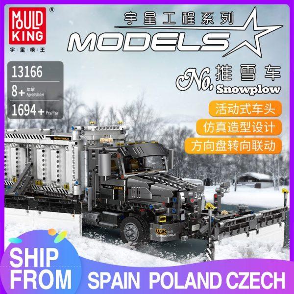 Mould King 13166 Technic Series The Moc 29800 Snowplow Truck Model 42078 Building Blocks Bricks Kids
