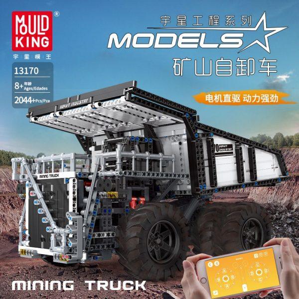 Mould King 13170 Technic Series Liebher Terex T284 Mining Excavator Dump Truck Model 29699 Motor Car 1