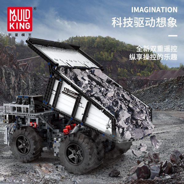Mould King 13170 Technic Series Liebher Terex T284 Mining Excavator Dump Truck Model 29699 Motor Car 3