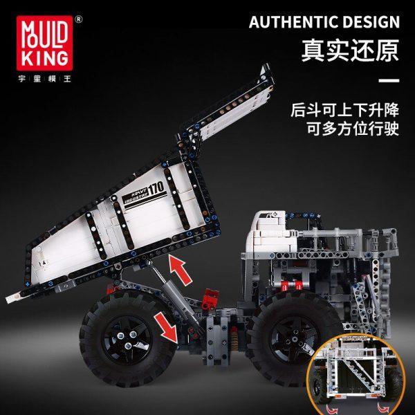 Mould King 13170 Technic Series Liebher Terex T284 Mining Excavator Dump Truck Model 29699 Motor Car 4