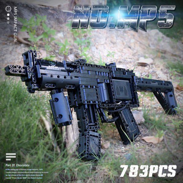 Mould King 14001 Motorized Block Gun With Moc 29369 Mp5 Submachine Gun Model Building Blocks Bricks 2