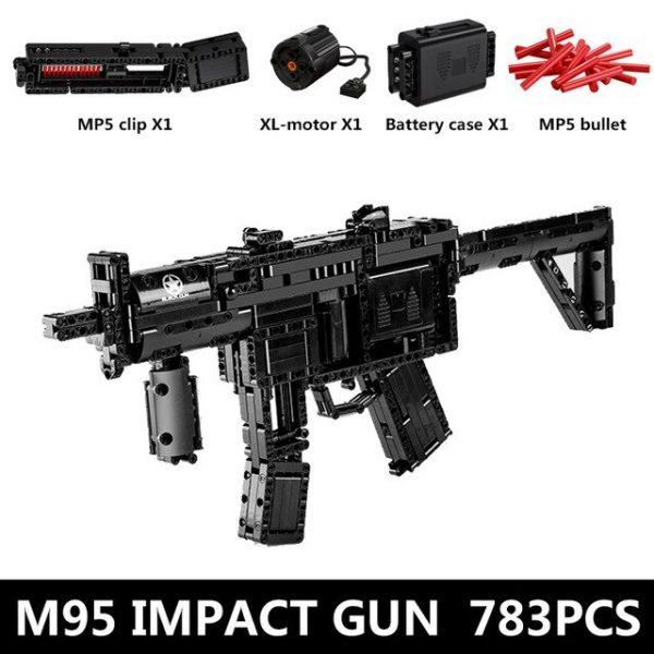 Mould King 14001 Motorized Block Gun With Moc 29369 Mp5 Submachine Gun Model Building Blocks Bricks.jpg 640x640