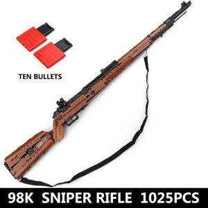 Mould King 14002 Swat Gun The Mauseres 98k Sniper Rifle Gun Model Assembly Weapon Sets Building.jpg 640x640
