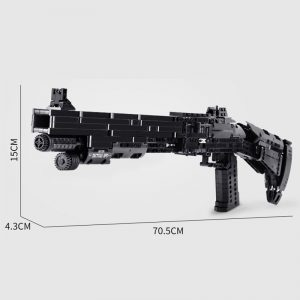 Mould King 14003 Assembly Block Gun The Benelli M4 Super 90 Weapon Automatic Gun Model Building 5