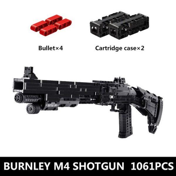Mould King 14003 Assembly Block Gun The Benelli M4 Super 90 Weapon Automatic Gun Model Building.jpg 640x640