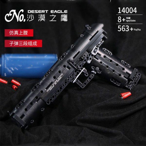 Mould King 14004 Moc The Desert Eagle Pistol Weapon Swat Gun Model Building Blocks Bricks Kids 1