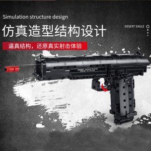 Mould King 14004 Moc The Desert Eagle Pistol Weapon Swat Gun Model Building Blocks Bricks Kids 2