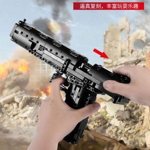 Mould King 14004 Moc The Desert Eagle Pistol Weapon Swat Gun Model Building Blocks Bricks Kids 3