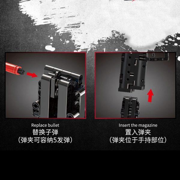 Mould King 14004 Moc The Desert Eagle Pistol Weapon Swat Gun Model Building Blocks Bricks Kids 4