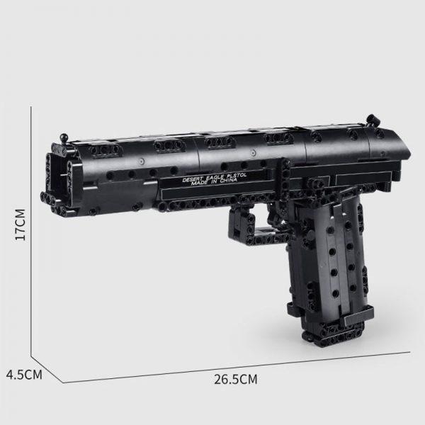 Mould King 14004 Moc The Desert Eagle Pistol Weapon Swat Gun Model Building Blocks Bricks Kids 5