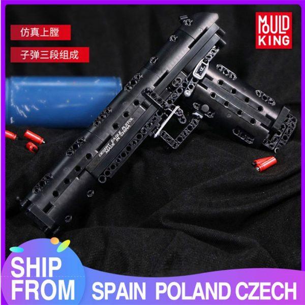 Mould King 14004 Moc The Desert Eagle Pistol Weapon Swat Gun Model Building Blocks Bricks Kids