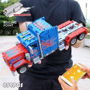 Mould King 15001 Technic The Peterbilt 389 Heavy Container Remote Control Truck Assembly Kits Building Blocks 4