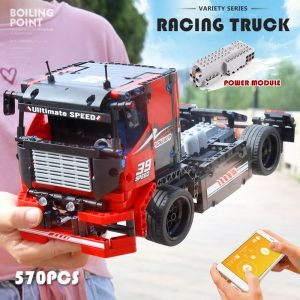Mould King 15002 Technic Series The Red Racing Remote Control Car Assembly Kits 42041 Building Blocks 1