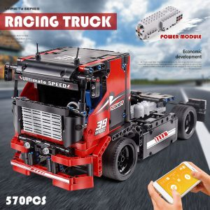 Mould King 15002 Technic Series The Red Racing Remote Control Car Assembly Kits 42041 Building Blocks 4